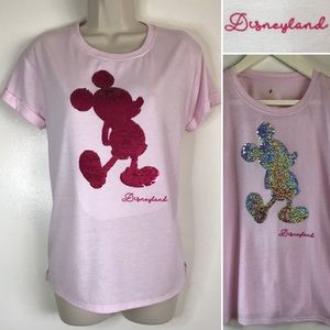Authentic Disney REVERSIBLE SEQUINS PINK T Shirt